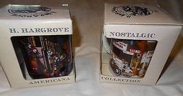 Lot of 2 Hargrove Americana Coffee Mug Cup General Store USA Home for Ch... - $14.99