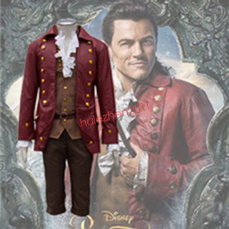 Primary image for Movie Beauty and the Beast Gaston Cosplay Costume Halloween Men's Fancy Dress