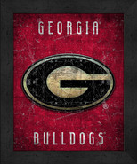 "Georgia Bulldogs ""Retro College Logo Map"" 13x16 Framed Print  - $39.95"