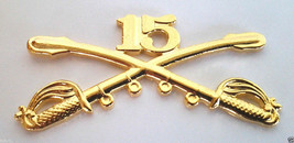 15TH CAVALRY INSIGNIA SWORDS Military Veteran US ARMY Hat Pin 16194 LARG... - $7.91