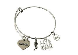 Swim Jewelry - Swimming Coach Bracelet - Perfect Gift For Swim Coaches - $16.50