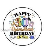 "(30) 30TH BIRTHDAY QUARANTINE ENVELOPE SEALS LABELS STICKERS 1.5"" ROUND ... - $4.99"