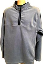 Vintage Foot Locker Blue Fleece 1/4 Zip Pullover Jacket Sweater XXL 2XL ... - $19.79