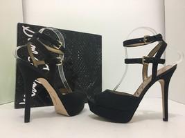 d7adfcb7b81 Sam Edelman Nadine Black Crepe Women  39 s Platform High Heels Sandals Size  .