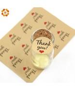 DIYHouse® 120PC/Lot Thank You Kraft/White Paper Gift Tags Stickers Weddi... - $3.89
