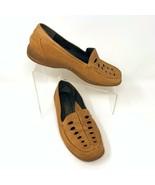 Umberto Raffini Womens Leather Flats, Size 38 EUR 7.5 US Tan - $22.10