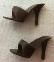 Vintage Barbie Brown Open Toe Heels Shoes  58-40 - $20.00