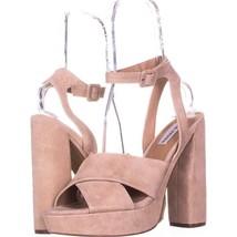 Steve Madden Jodi Platform Sandals 272, Blush SUede, 11 US - $30.71