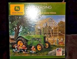 John Deere Jigsaw Puzzle Barn Raising 1000 piece 2006 AA18-JD0023 image 2