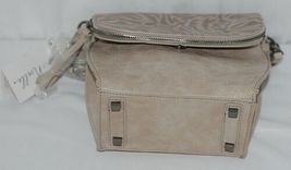Simply Noelle Brand Beige Taupe Color Floral Leaf Pattern Womens Purse image 5