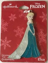Hallmark Disney's Frozen Movie ELSA flat metal Christmas ornament on car... - $9.94