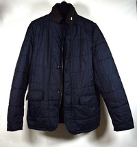 Zara Mens Quilted Puffer Jacket Navy M  - $39.60