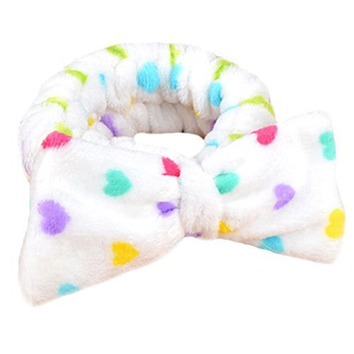 Hair Band Makeup Hair Wash A Face With Hair Hoop Bowknot Headdress(Love)