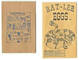 Vtg Rat-ler Eggs  RATTLESNAKE EGGS PRANK GAG GIFT & KEY ON STRING TRICK ... - $3.95