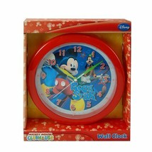 """Mickey Mouse Wall Clock Red Rock Star 10"""" Goofy Disney Guitar Clubhouse ... - $12.86"""