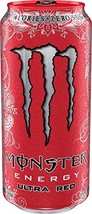 Monster Energy Ultra Energy Drinks 6 - 16oz Cans (Ultra Red) - $21.77