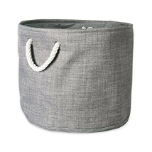 DII, Collapsible Variegated Polyester Storage Bin with with Cotton Handl... - $13.18