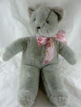 "Grey Cat Plush Manhattan Toy Gray Kitten 15"" Stuffed Animal Vintage Korea 1985 - $17.81"