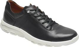 Rockport Let's Walk Plain Toe Sneaker (Men's Shoes) in Black Leather - NEW - $179.51