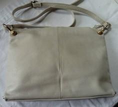 Vintage Shoulder Handbag Soft Faux Leather Cream Summer Colour, Adjustab... - $26.67