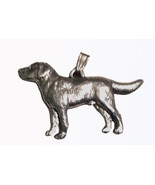 Labrador Lab Pendant Dog Harris Fine Pewter Made in USA jewelry - $10.99