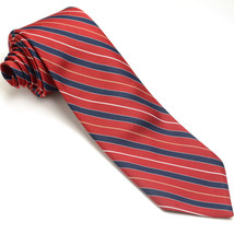 VINTAGE WEMBLEY 57L Red Navy Blue Gold White Skinny Striped Mens Neck Tie - $39.59