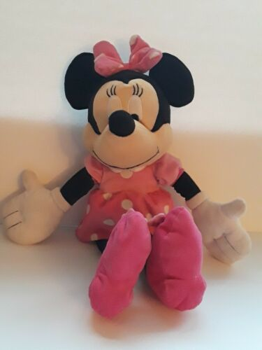 "Primary image for Disney Store Red Purple & Pink Minnie Mouse 20"" Plush Stuffed Animal"