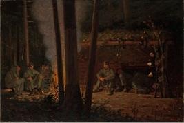 "Winslow Homer Vintage Bookplate Print: ""In Front Of Yorktown"" 1862 - $12.00"
