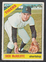 Detroit Tigers Dick McAuliffe 1966 Topps Baseball Card 495 vg - $5.50