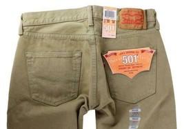 NEW LEVI'S 501 MEN'S ORIGINAL FIT STRAIGHT LEG JEANS BUTTON FLY BEIGE 501-1212