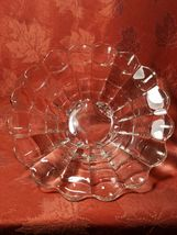 """VINTAGE  American Four Footed Glass Bowl w Flared Top Edge 10""""x4"""" image 4"""