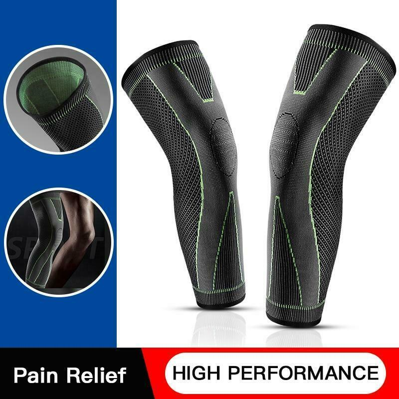 Drop Ship From USA Mumian Elasticity Long Knee Protector Brace Leg Sleeve Knee P