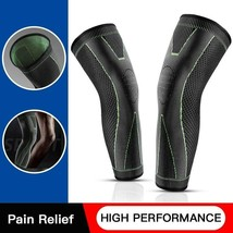 Drop Ship From USA Mumian Elasticity Long Knee Protector Brace Leg Sleeve Knee P image 1