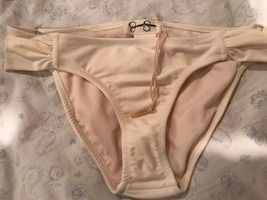 Jessica Simpson Cream Off White Swimsuit Bottom Bikini Small S NWOT - $7.19