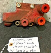 CUMMINS ISX15 DIESEL ENGINE CYLINDER HEAD WATER MANIFOLD 3686246 OEM - $66.50