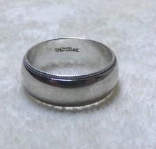 925 Sterling Silver Ladies Milgrain Wedding Band Sz 3.75 Anniversary Ring 6mm HE - $24.99