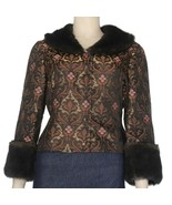 Vintage 1990's Nine West Removeable Fur Collar & Cuffs Jacket Size 4 New    - $29.99