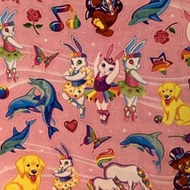 Full S443 Lisa Frank Stickers Characters Bears Markie Unicorn Bunnies Dolphin image 2