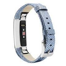 for Fitbit Alta Strap Full Grain Cow Leather Wristband Replacement (Blue) - $24.09