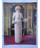 "Paradise Crochet 11 1/2"" Doll Pattern PRINCESS DIANA 1989 BEADED EVENING... - $13.81"