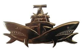 Israeli army FAST PATROL BOATS UNIT BADGE IDF Israel Dvora ship shark pin - $10.50