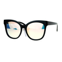Womens Super Oversized Sunglasses Butterfly Frame Flat Mirror Lens - £9.08 GBP