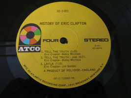 Eric Clapton History Of Atco SD 2-803 Stereo Double Vinyl Record LP image 8