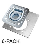 Recessed D-Ring 6,000 lb. Cap. Tiedown w/ Backing Plate - 6 pack - $45.70