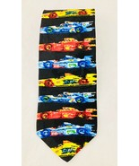 Vintage Ralph Marlin Formula 1 Grid Silk Necktie RM STYLE Made In The USA - $8.20