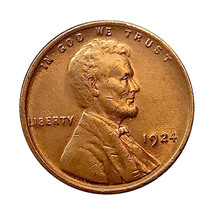 1924 P Lincoln Wheat Cent - Choice BU / MS / UNC - $37.45