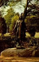 PICTURE POSTCARD-  STATUE OF POCAHONTAS, JAMESTOWN, VA  BK21 - $2.94