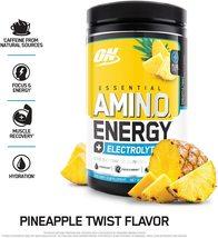Optimum Nutrition ON Essential AMINO ENERGY Electrolytes Pineapple Twist 30 serv - $30.87