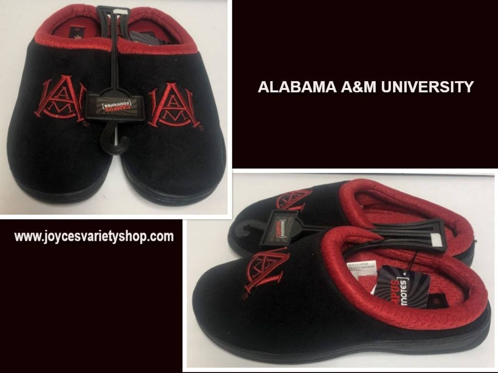 Alabama A&M University Men's Slippers Shoes Sz 9/10