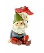 Gnome with a Mushroom, Spring Garden Gnome, Terrarium Gnome, Gnome Cake ... - $8.99